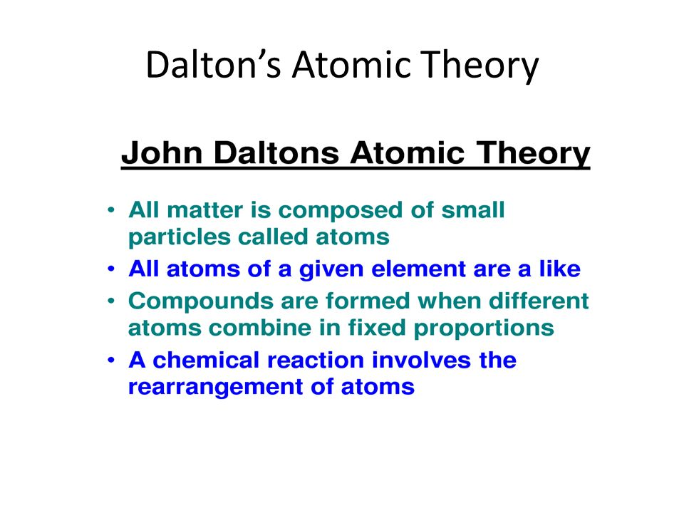 John Dalton (1766 – 1844). - ppt video online download