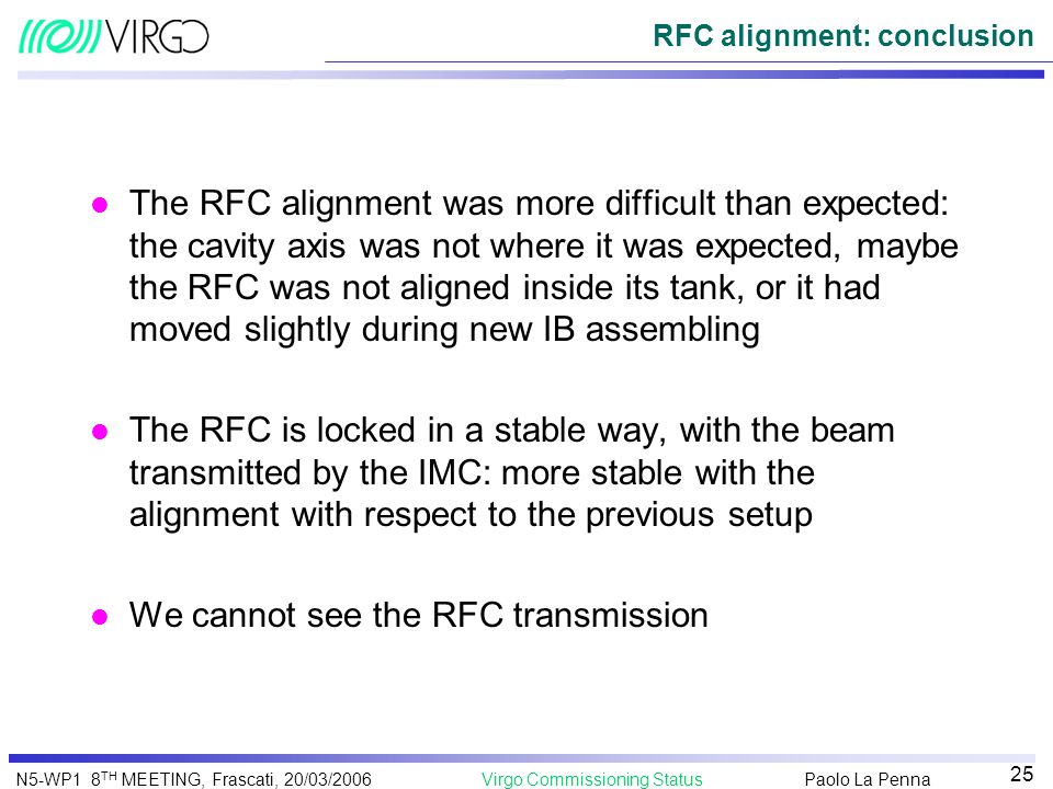 RFC alignment: conclusion