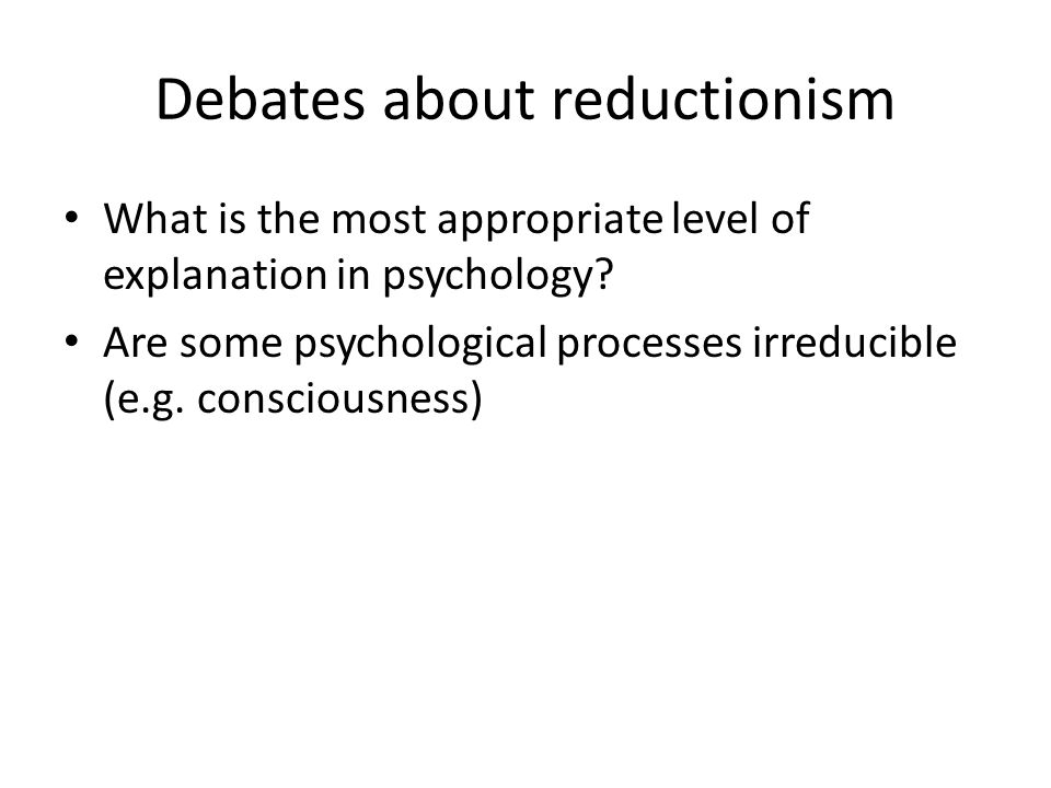 Holism and reductionism essay psychology