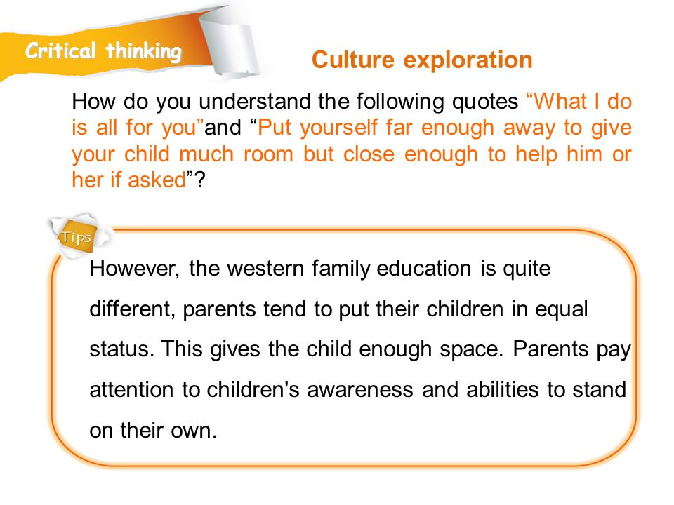 Critical thinking Culture exploration.
