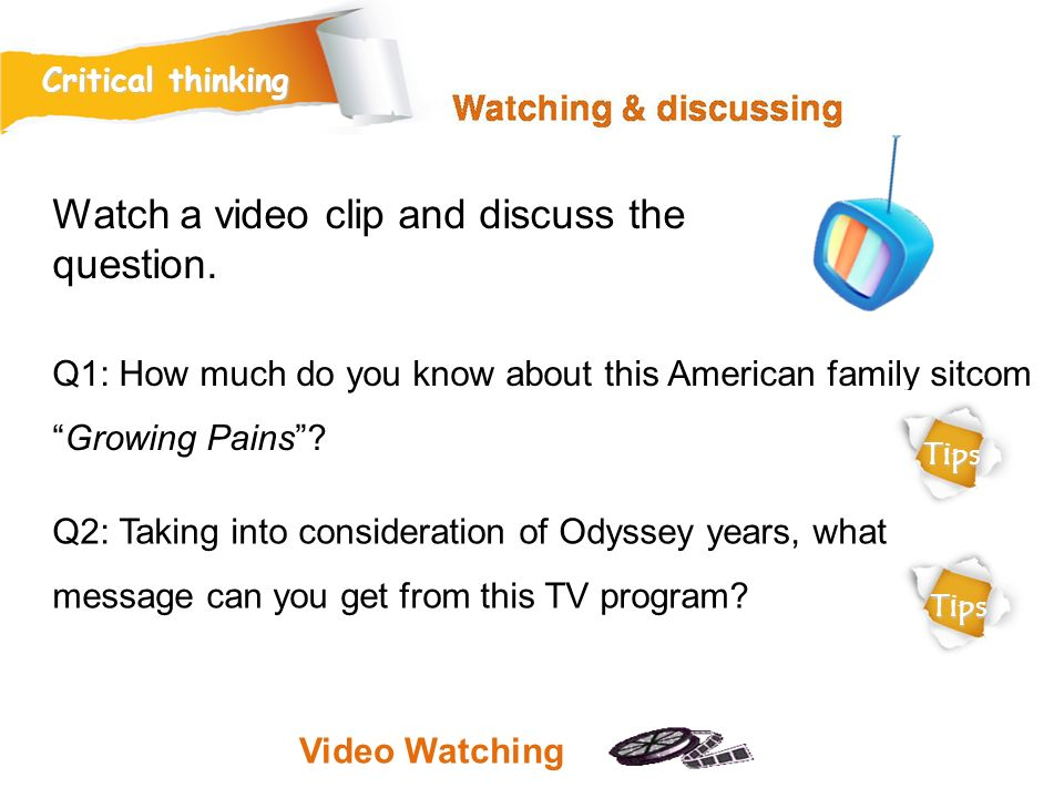 Watch a video clip and discuss the question.