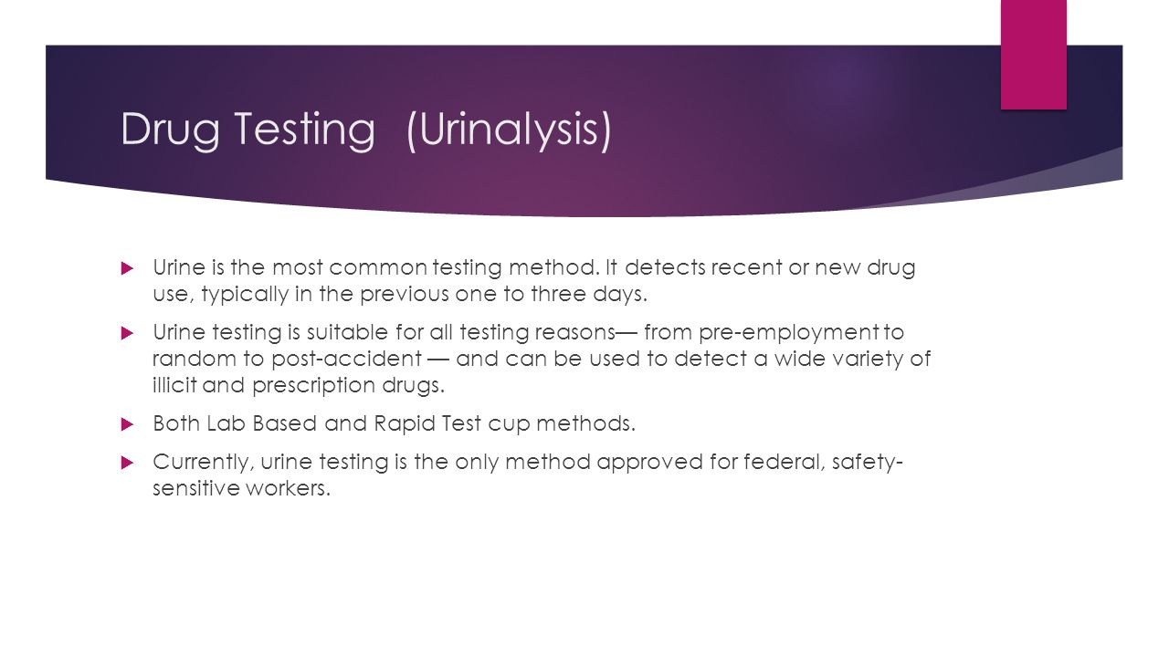 An Overview Of Popular Drug Testing Methods