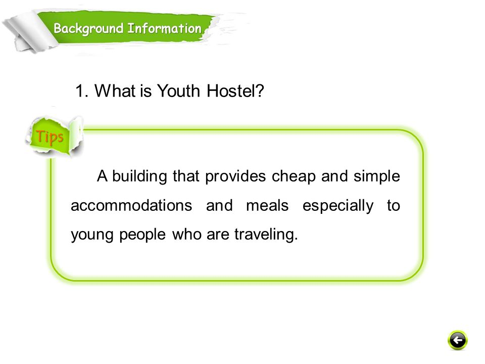 1. What is Youth Hostel Tips