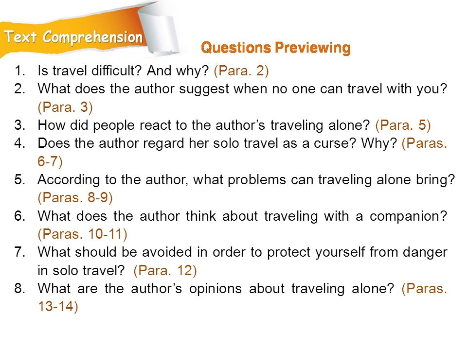 Is travel difficult And why (Para. 2)