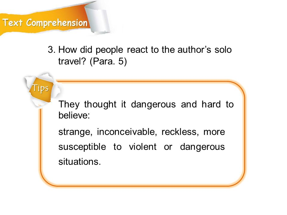 3. How did people react to the author's solo