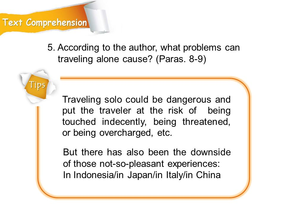 5. According to the author, what problems can