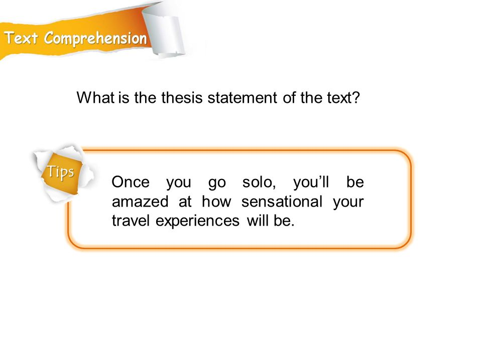 What is the thesis statement of the text