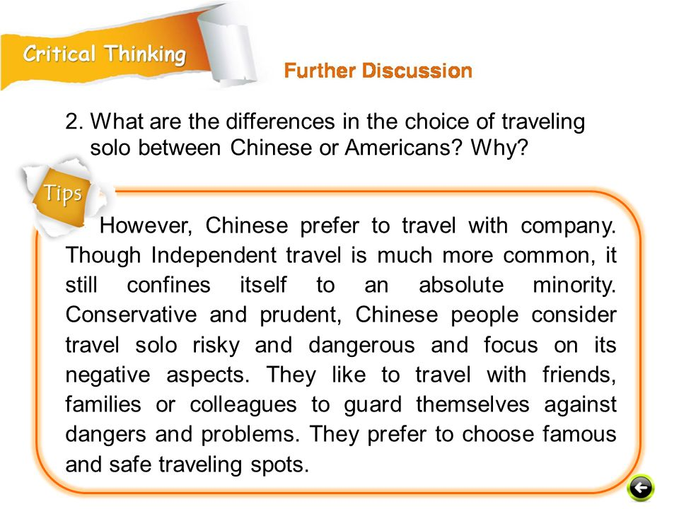 2. What are the differences in the choice of traveling