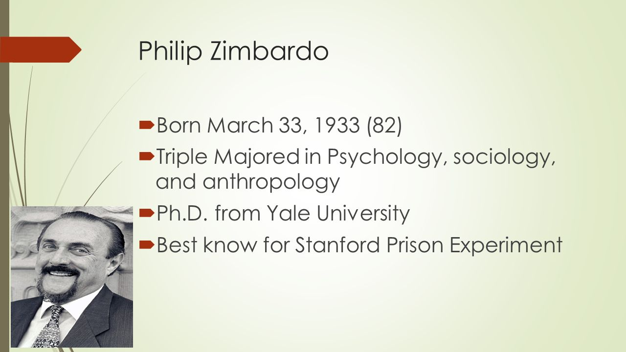the psychological effects of the zimbardo prison experiment Zimbardo had initially thought that two weeks of this treatment would not have any damaging psychological side effects the experiment didn't even last the appointed two weeks prisoners.
