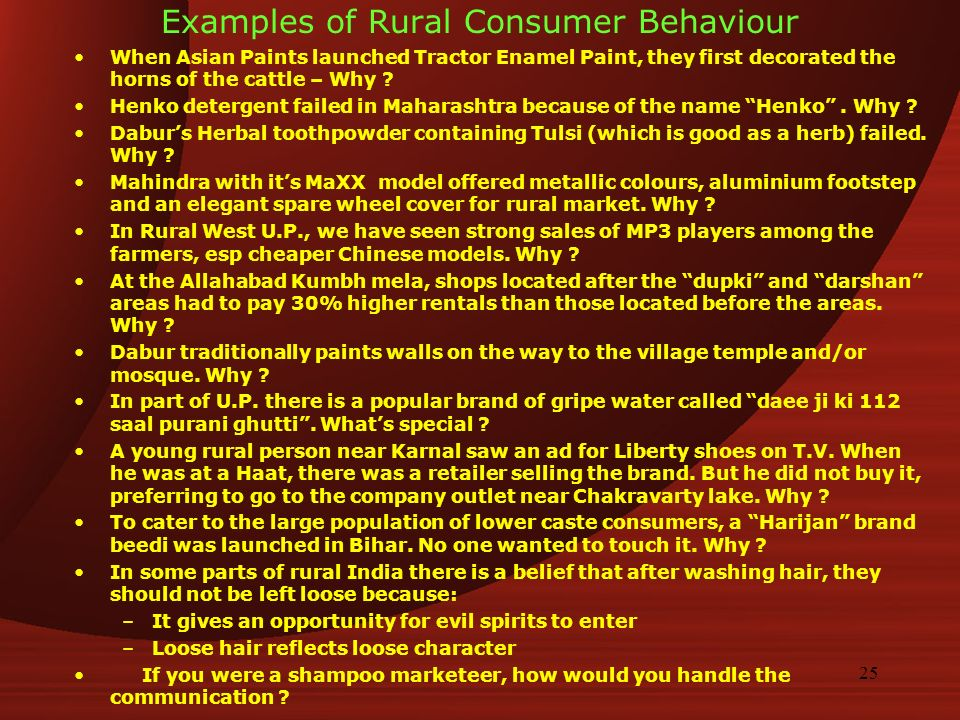 rural consumer The age of the rural super consumer is upon us– a new breed of rural consumer who is engaged, both emotionally and economically with.