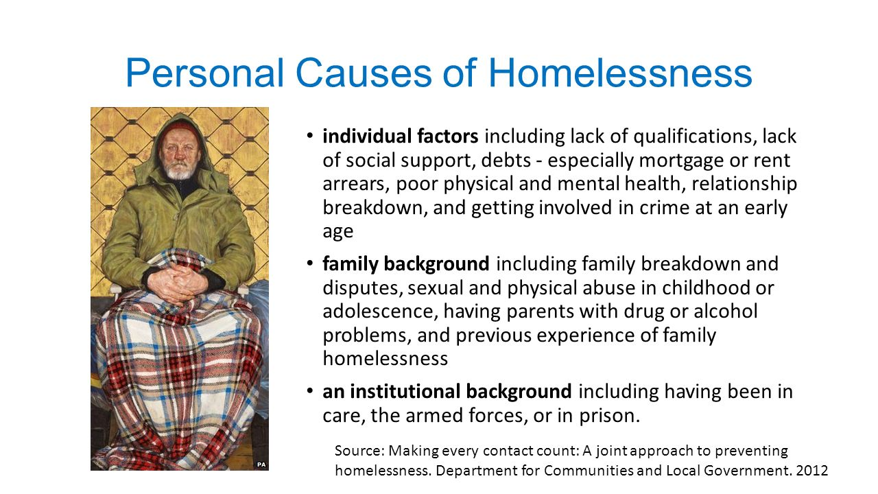 relationship breakdown and homelessness in the us