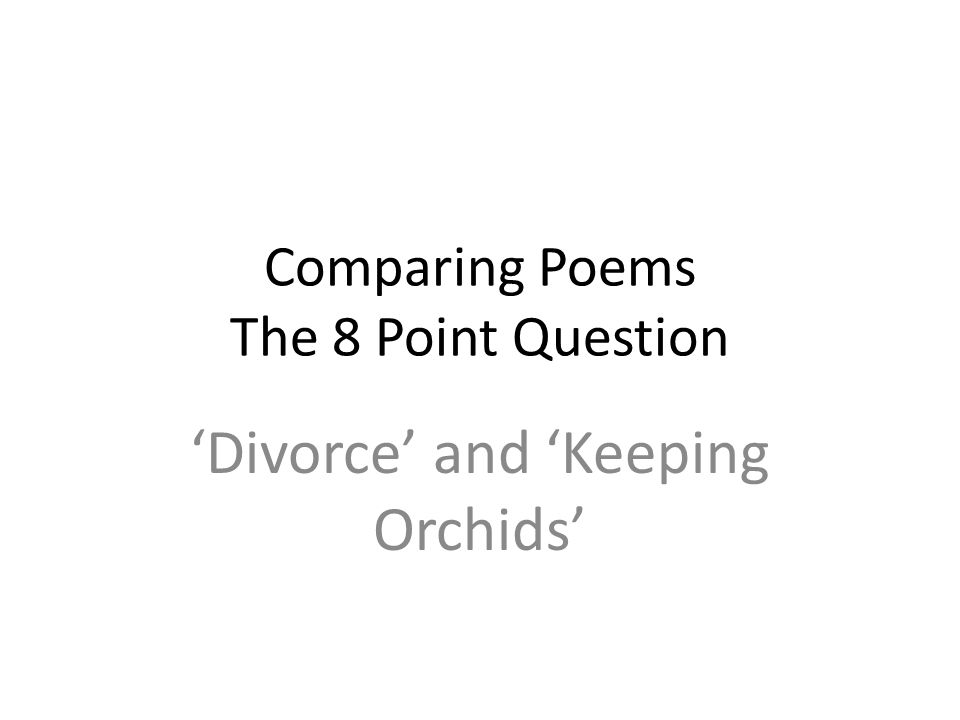 Comparing Poems The  Point Question  Ppt Video Online Download Comparing Poems The  Point Question