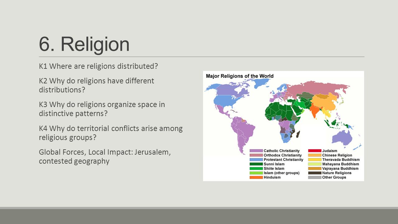 ap geography religious terms Religion and geography is the study of the impact of geography, ie place and space, on religious belief another aspect of the relationship between religion and geography is religious geography, in which geographical ideas are influenced by religion, such as early map-making, and the biblical geography that developed in the 16th century to identify.