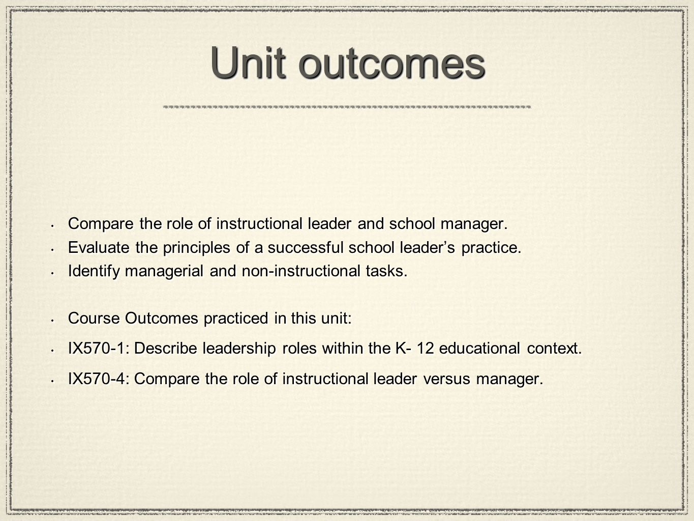 role of instructional leader essay Principals often view leadership and management as two different roles, but the  most  if instructional leadership and supervision for student growth and teacher .