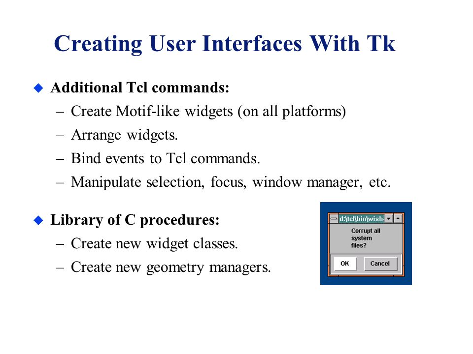 how to make a command user interface c
