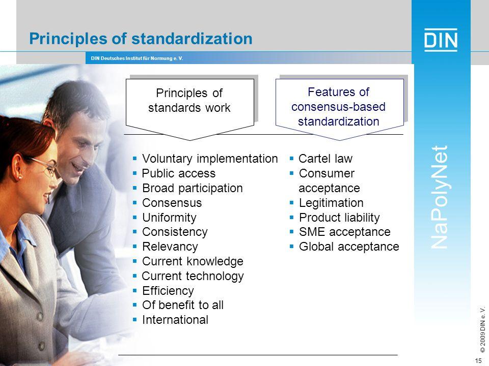 Principles of standardization