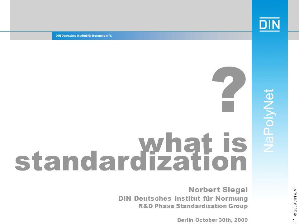 what is standardization Norbert Siegel