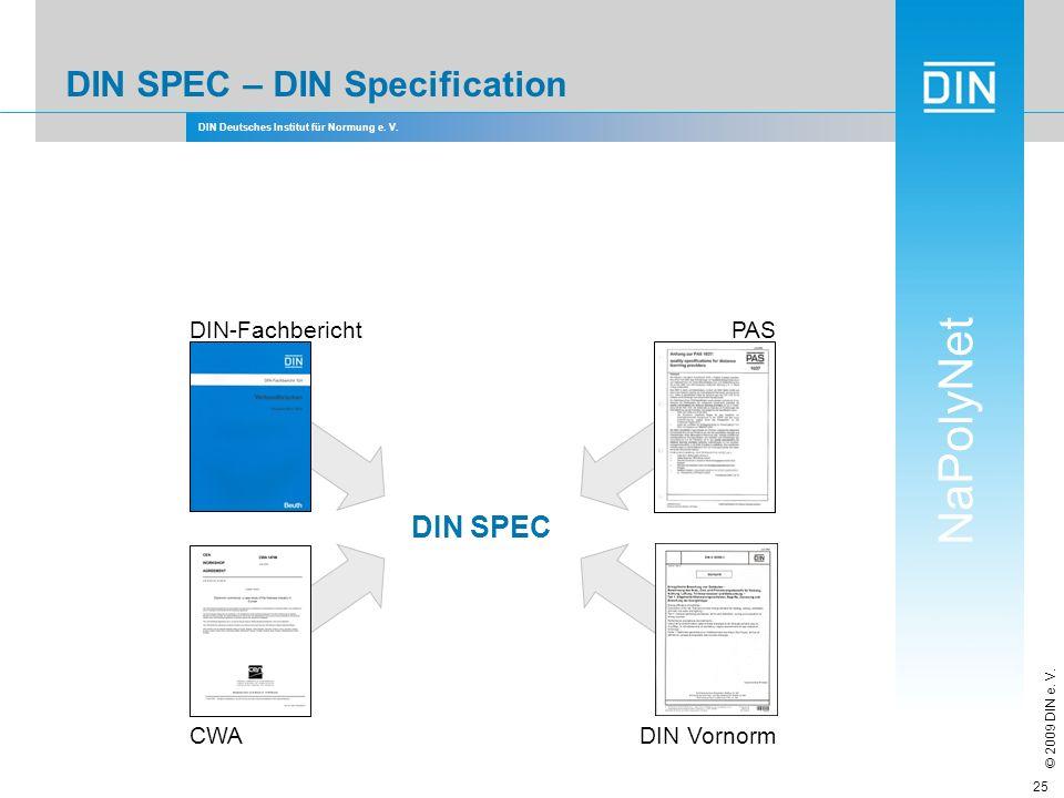 DIN SPEC – DIN Specification