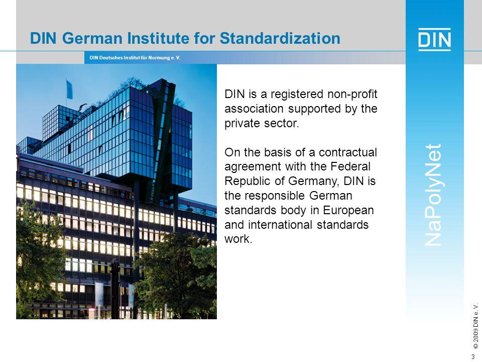 DIN German Institute for Standardization