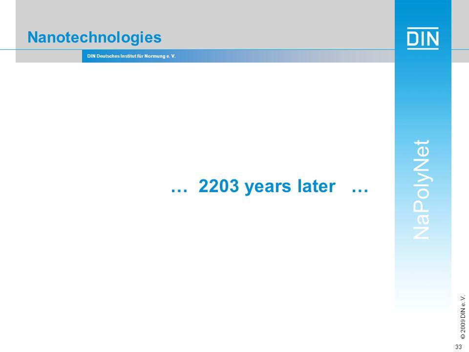 … 2203 years later … Nanotechnologies