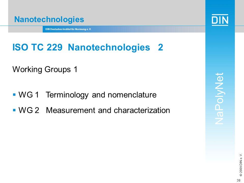 ISO TC 229 Nanotechnologies 2