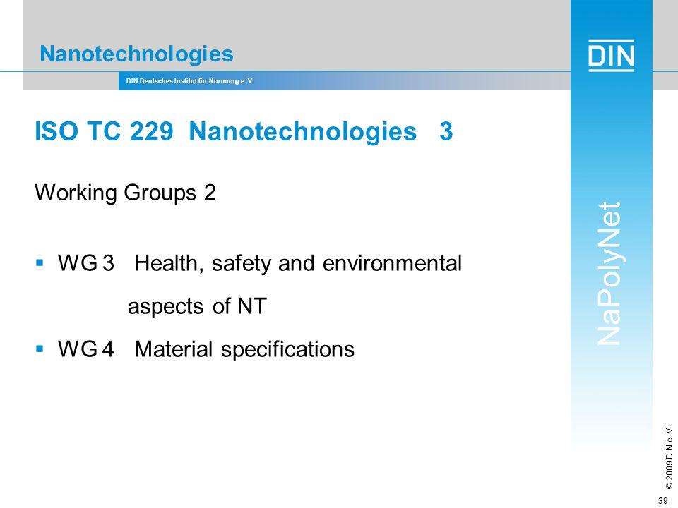 ISO TC 229 Nanotechnologies 3