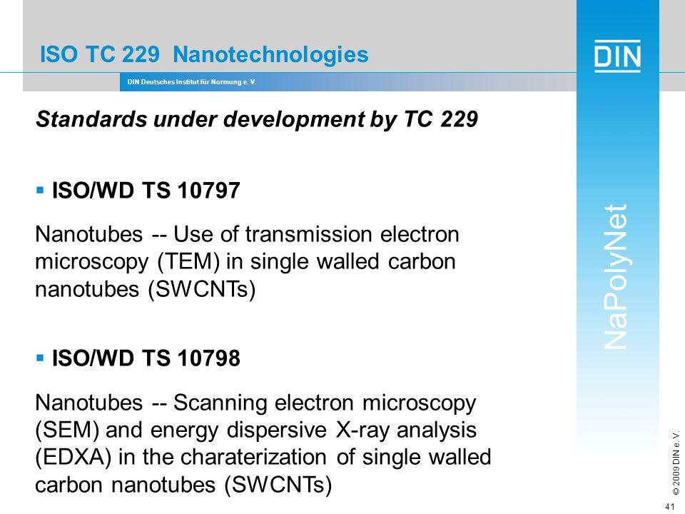 ISO TC 229 Nanotechnologies