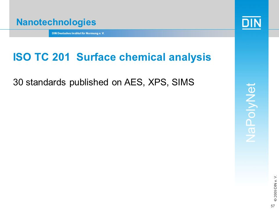 ISO TC 201 Surface chemical analysis