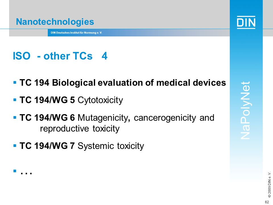 ISO - other TCs 4 Nanotechnologies