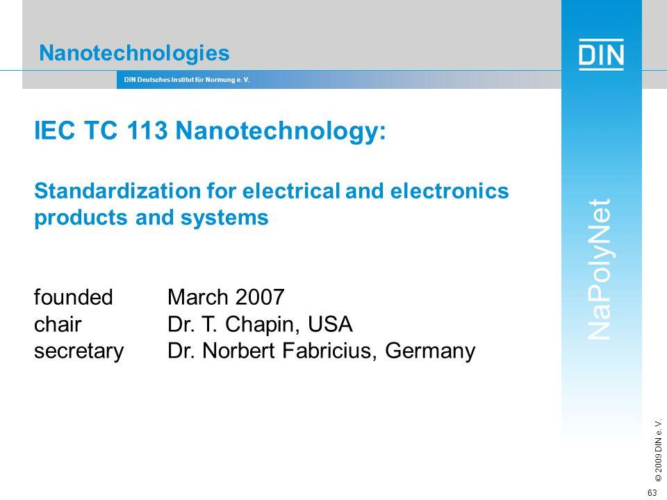 IEC TC 113 Nanotechnology: