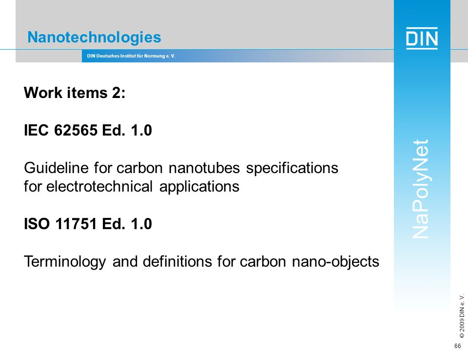Guideline for carbon nanotubes specifications