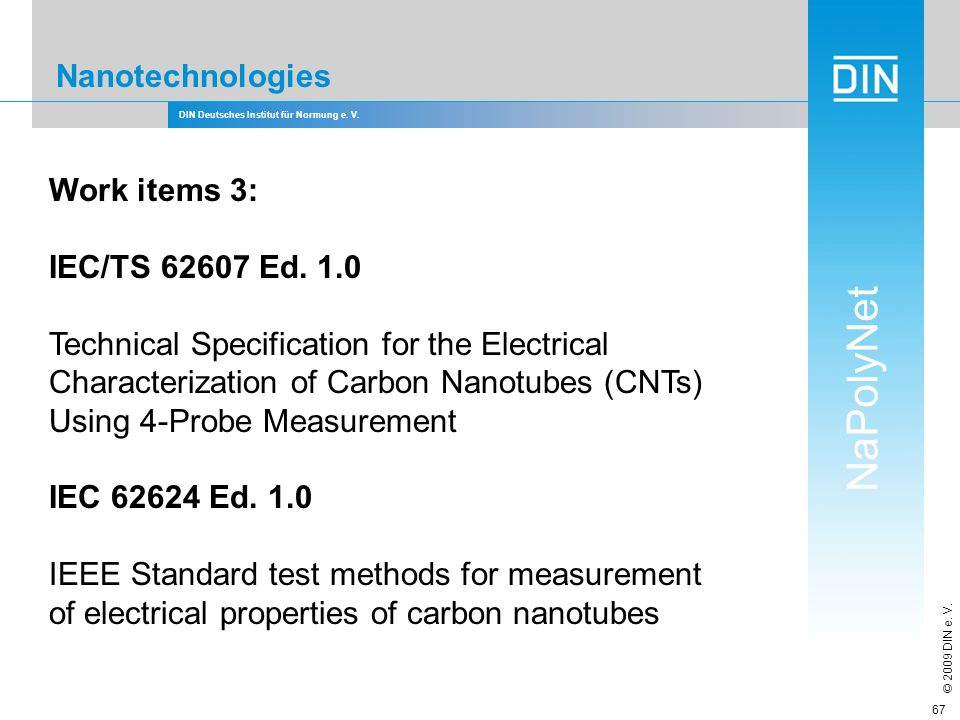 Technical Specification for the Electrical