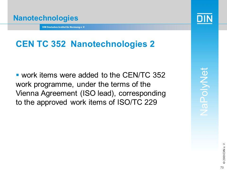 CEN TC 352 Nanotechnologies 2