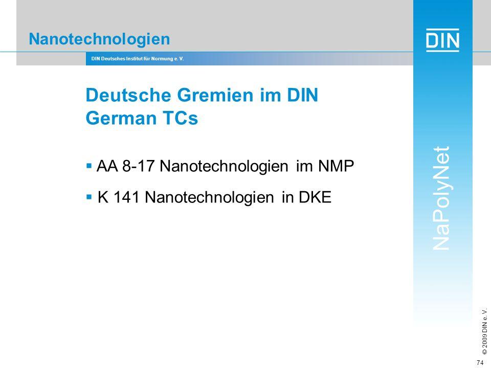 Deutsche Gremien im DIN German TCs