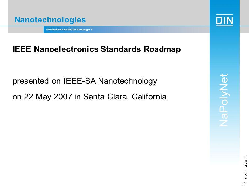 IEEE Nanoelectronics Standards Roadmap