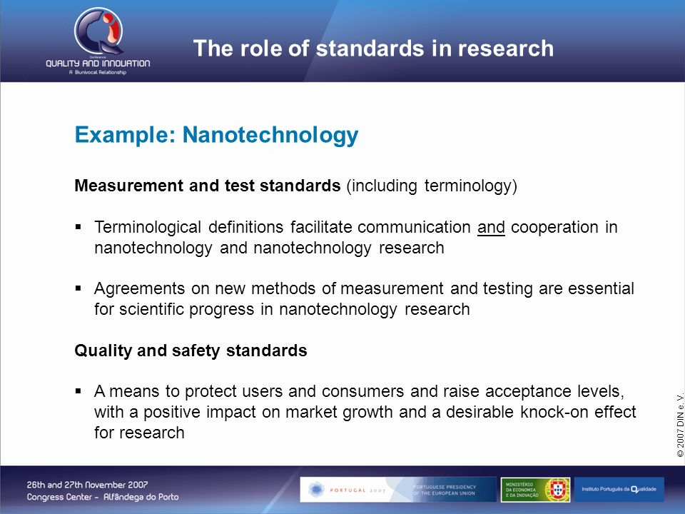 The role of standards in research