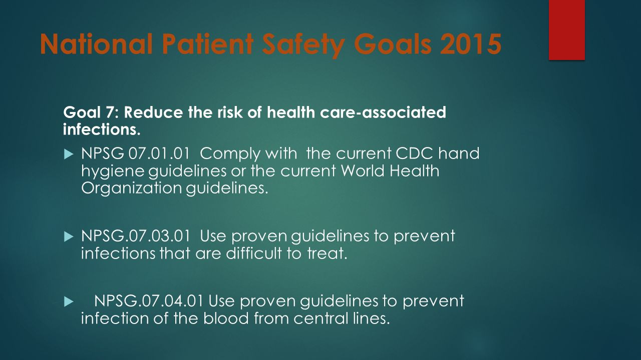 national patient safety goal