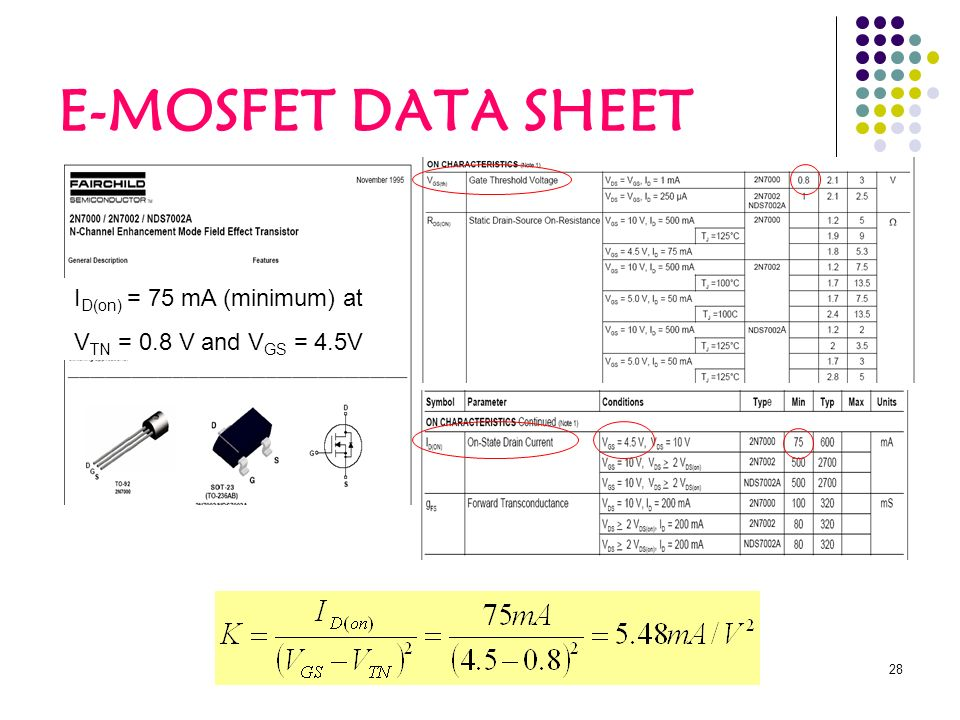 Mosfet Equation Sheet - Www imagez co