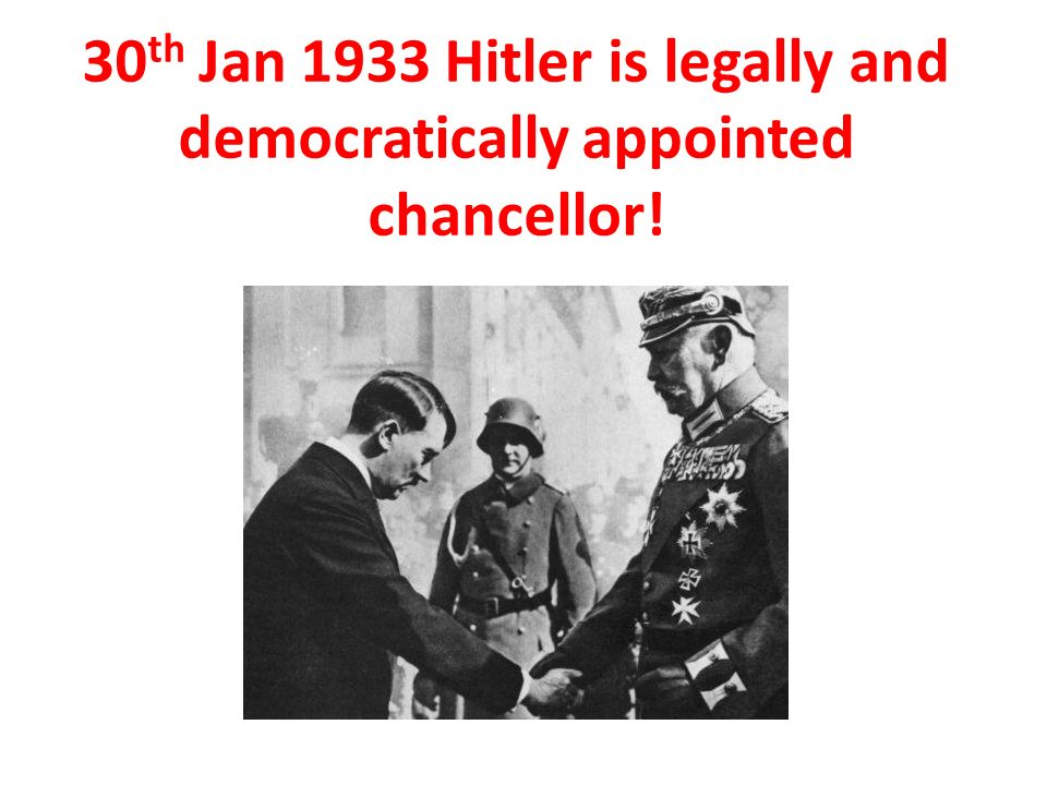why did hitler become chancellor in january 1933 essay January 30th 1933 marked the beginning of the end of the weimar republic,   crosswords essay questions memory quizzes multi-choice quizzes  wordsearches  move, hitler instead became chancellor through a shadowy  backroom deal  but within two months the nazi leader had killed off weimar  democracy and.