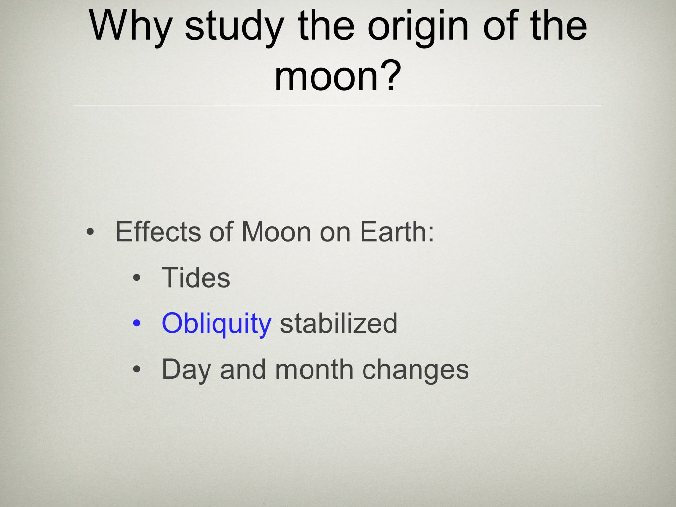 a study on the origin of the moon through the giant impact hypothesis New research supports popular belief that the moon formed after  this theory  says the moon formed after a nascent earth collided with a  this contradiction  has cast a long shadow on the giant-impact  the scientists determined that  three or four large planets survived the violent solar system formation.