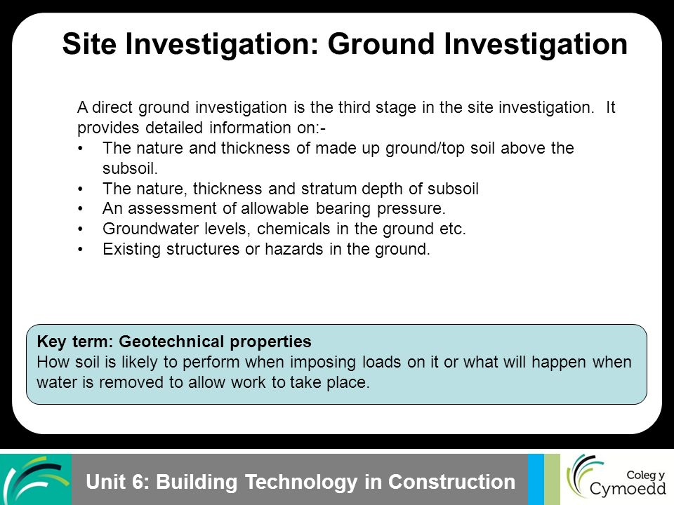 stages of site investigation pdf
