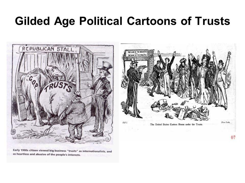 Trust political cartoon