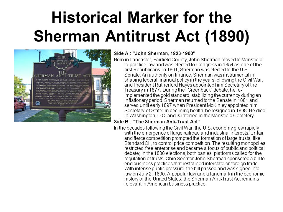 An introduction to the history of antitrust legislation
