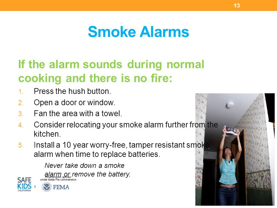 how to clip and slide to open smoke alarm