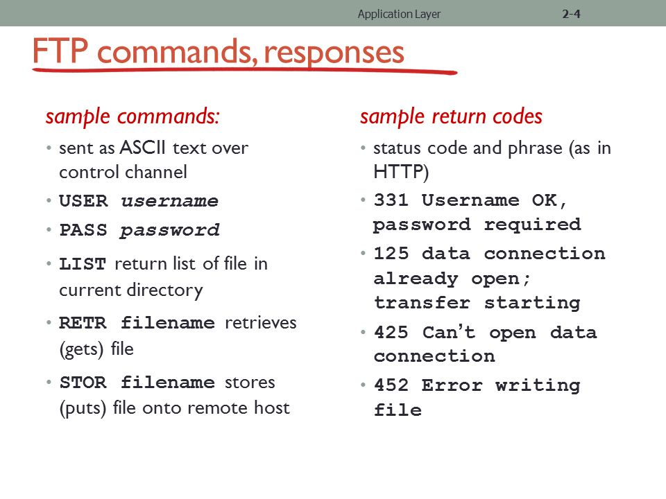 how to use ftp command