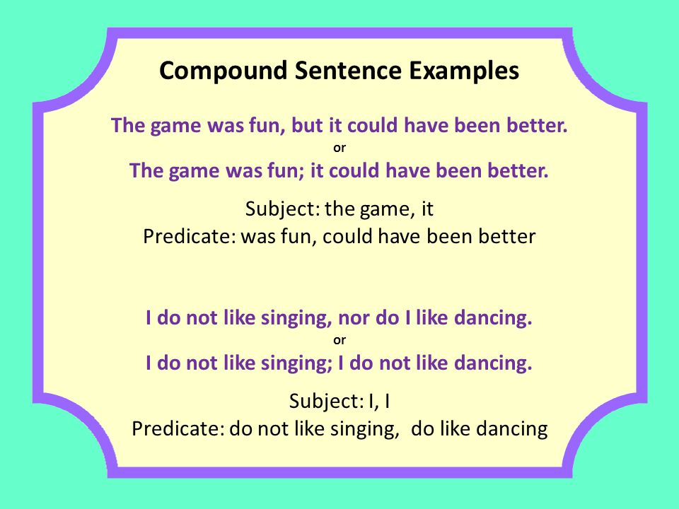 predicate and following sentences The predicate of the sentence is the part of a sentence thatincludes the verb and the words following it.