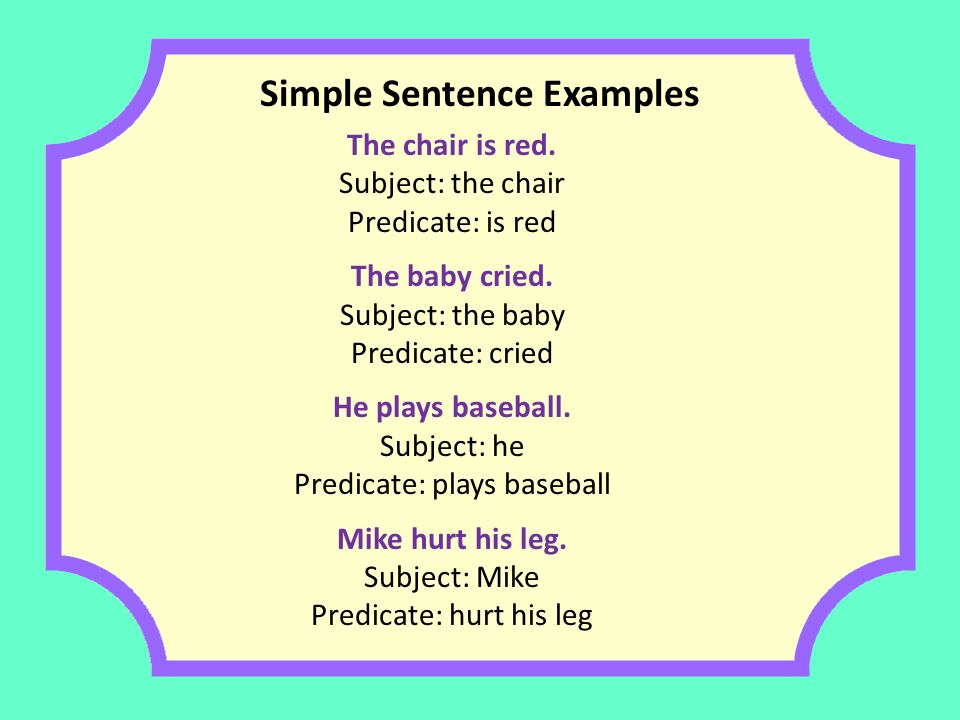 Simple Sentence Examples Www Pixshark Com Images
