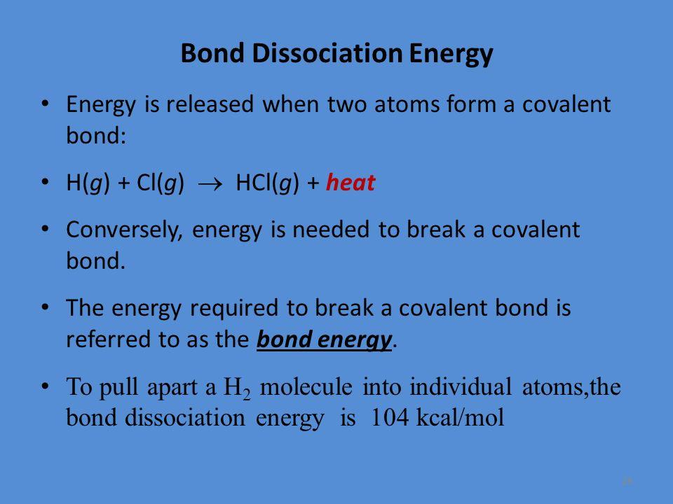 how to calculate energy needed to break bond