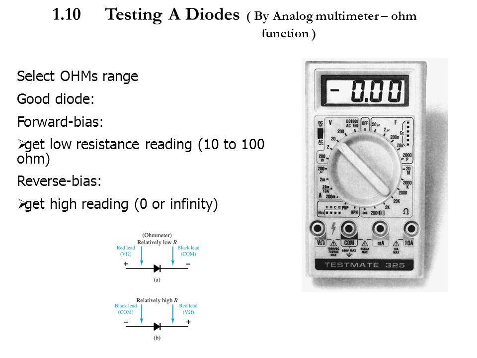 Ohmmeter Good Measurements And A High Low : Emt chapter introduction to semiconductor by en