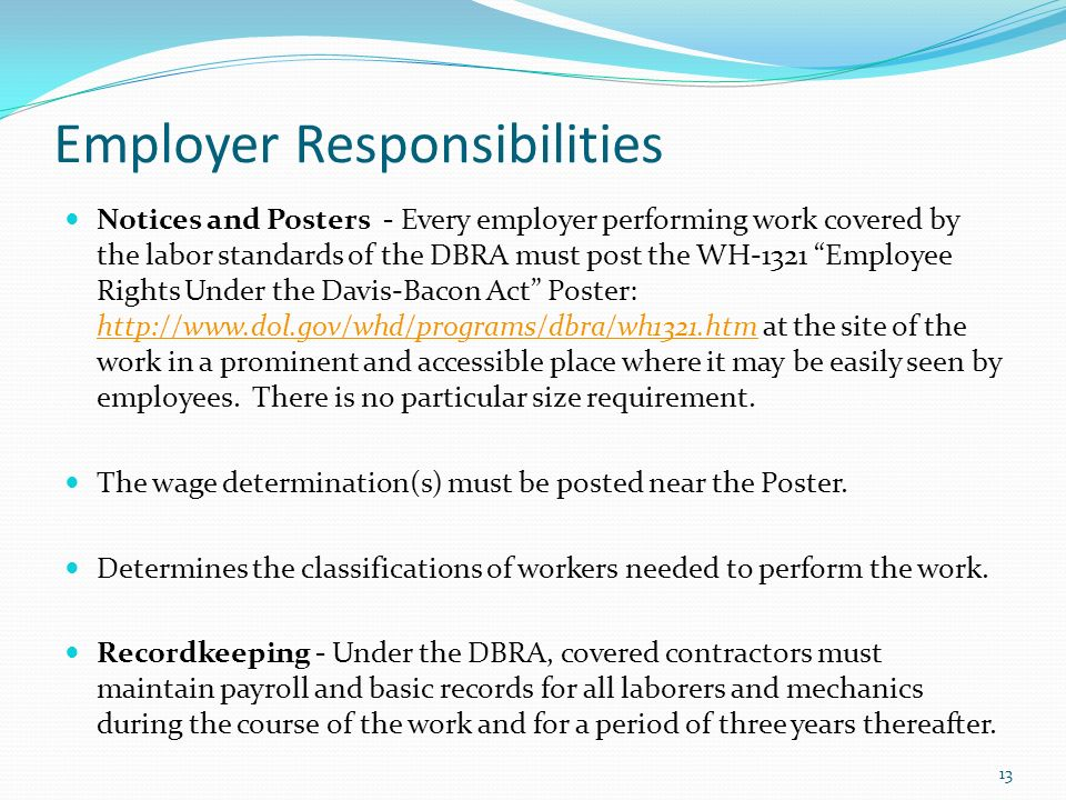 responsibility of employers for acts of Responsibility for injuries caused to members of the public  in general, the act prohibits the employment of children under the age of 16.
